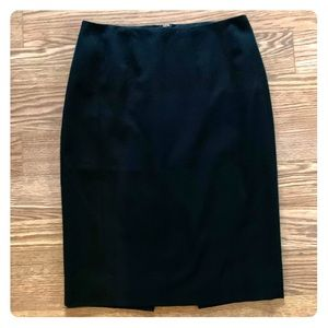 WHBM Pencil Skirt with Inverted Pleat